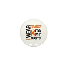 I Wear Orange For Daughter Mini Button (10 pack)