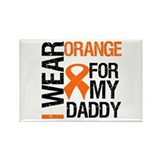 I Wear Orange For My Daddy Rectangle Magnet (10 pa