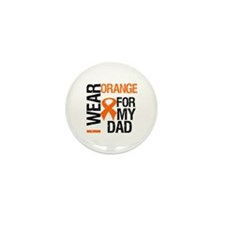 I Wear Orange For My Dad Mini Button (10 pack)