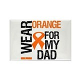 I Wear Orange For My Dad Rectangle Magnet