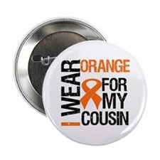 "I Wear Orange For Cousin 2.25"" Button"