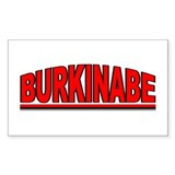 """Burkinabe"" Rectangle Decal"