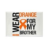 I Wear Orange For Brother Rectangle Magnet