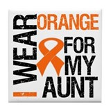 I Wear Orange For My Aunt Tile Coaster