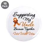 "Orange Ribbon Butterfly 3.5"" Button (10 pack)"