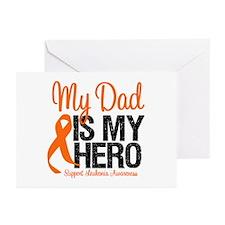 LeukemiaHero Dad Greeting Cards (Pk of 10)