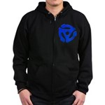 Blue 45 RPM Adapter Zip Hoodie (dark)
