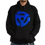 Blue 45 RPM Adapter Hoodie (dark)