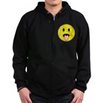 Smiley Face - Tongue Out Zip Hoodie (dark)