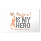 LeukemiaHero Boyfriend Rectangle Sticker 10 pk)