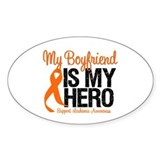 LeukemiaHero Boyfriend Oval Sticker (10 pk)