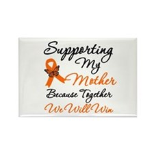 Orange Ribbon Butterfly Rectangle Magnet