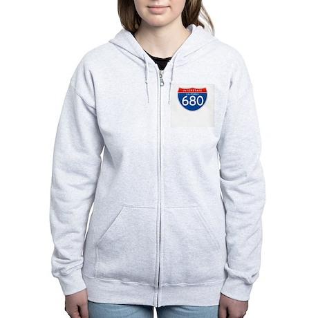 Interstate 680 - CA Women's Zip Hoodie