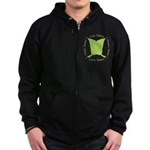 Live Green Think Green Zip Hoodie (dark)