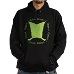 Live Green Think Green Hoodie (dark)