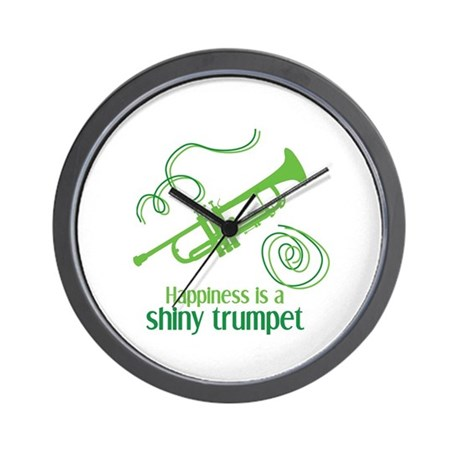 Shiny Trumpet Wall Clock