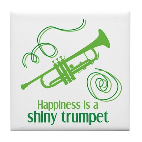 Shiny Trumpet Tile Coaster