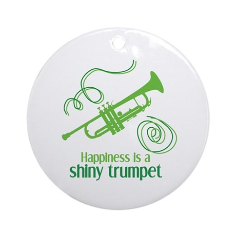 Shiny Trumpet Ornament (Round)