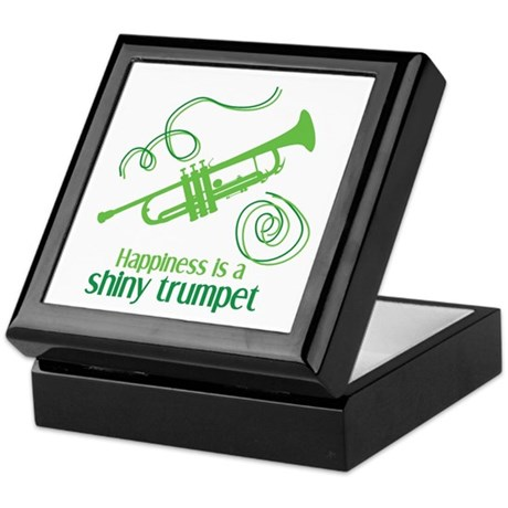 Shiny Trumpet Keepsake Box