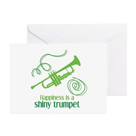 Shiny Trumpet Greeting Cards (Pk of 10)