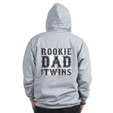 Rookie Dad of Twins Zip Hoodie