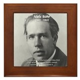Quantum Physics: Niels Bohr Framed Tile