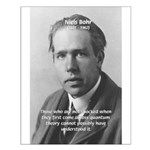 Quantum Physics: Niels Bohr Small Poster