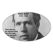 Quantum Physics: Niels Bohr Oval Decal