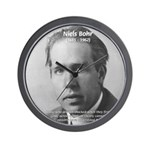 Quantum Physics: Niels Bohr Wall Clock