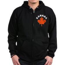 Canadian Maple Leaf Zip Hoodie