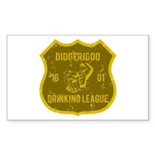 Didgeridoo Drinking League Rectangle Decal