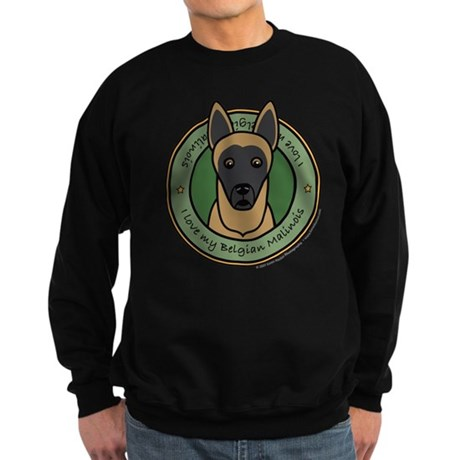 Love My Malinois Sweatshirt (dark)