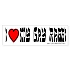 I Love My Gay Rabbi Bumper Bumper Sticker