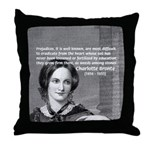 Novelist Charlotte Bronte Throw Pillow