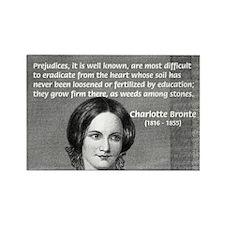 Novelist Charlotte Bronte Rectangle Magnet (100 pa