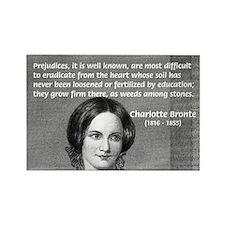 Novelist Charlotte Bronte Rectangle Magnet (10 pac