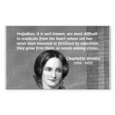 Novelist Charlotte Bronte Rectangle Stickers