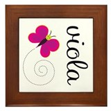 Pretty Viola Framed Tile