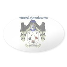 Musical Gauntlet Oval Decal