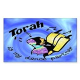 Torah is My Dance Partner Rectangle Decal