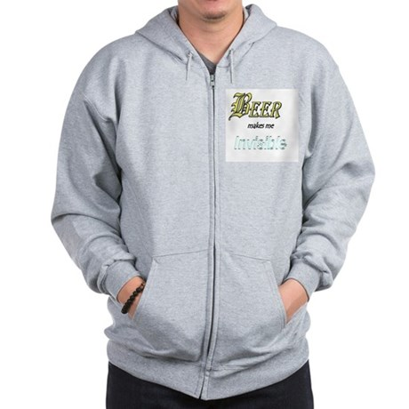 Invisible Beer Zip Hoodie