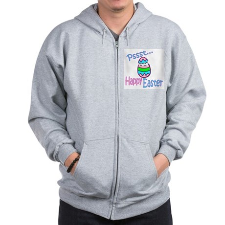 Happy Easter Chick Zip Hoodie