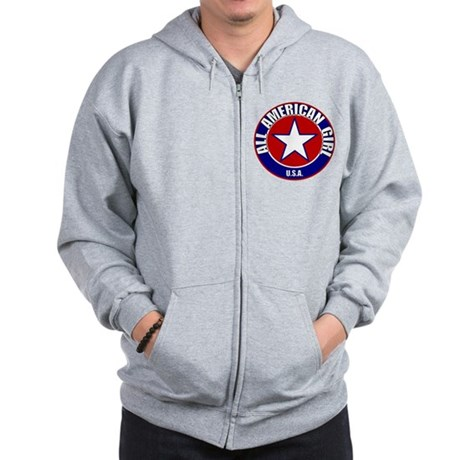 All American Girl Zip Hoodie