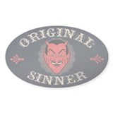 Original Sinner Oval Decal