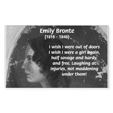 Novelist: Emily Bronte Rectangle Stickers