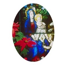 Nativity Oval Ornament