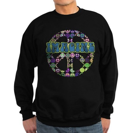 Retro Peace Sign Imagine Sweatshirt (dark)