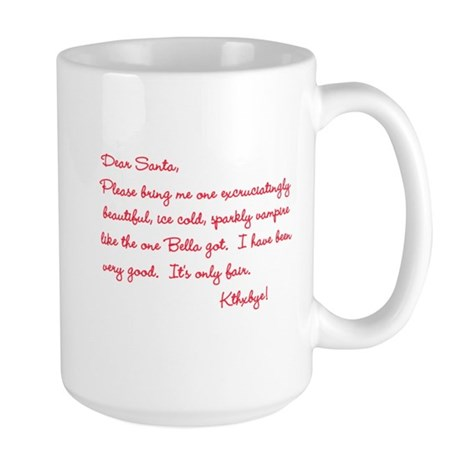 Twilight Edward Christmas Large Mug