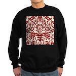 Red Damask Retro Florentine Sweatshirt (dark)