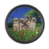 Brussels Griffon Sharon's Gang Large Wall Clock